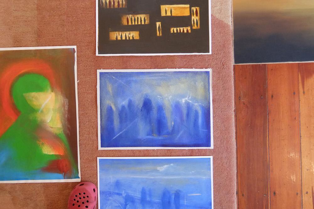 Canvas unstretched Royal Blue Wedding 2006.jpg